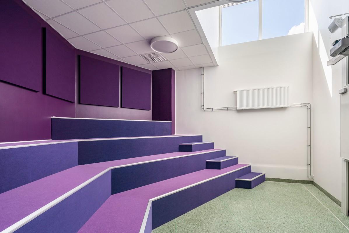 Sjöviksskolan in Årstadal by Max Arkitekter, photographed by architectural photographer Mattias Hamrén.