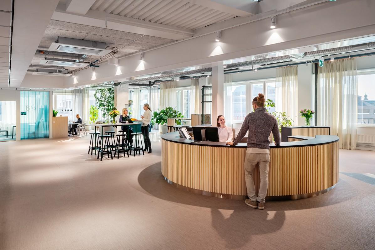 AMF Fastigheters huvudkontor, fotograferat av arkitekturfotograf Mattias Hamrén.