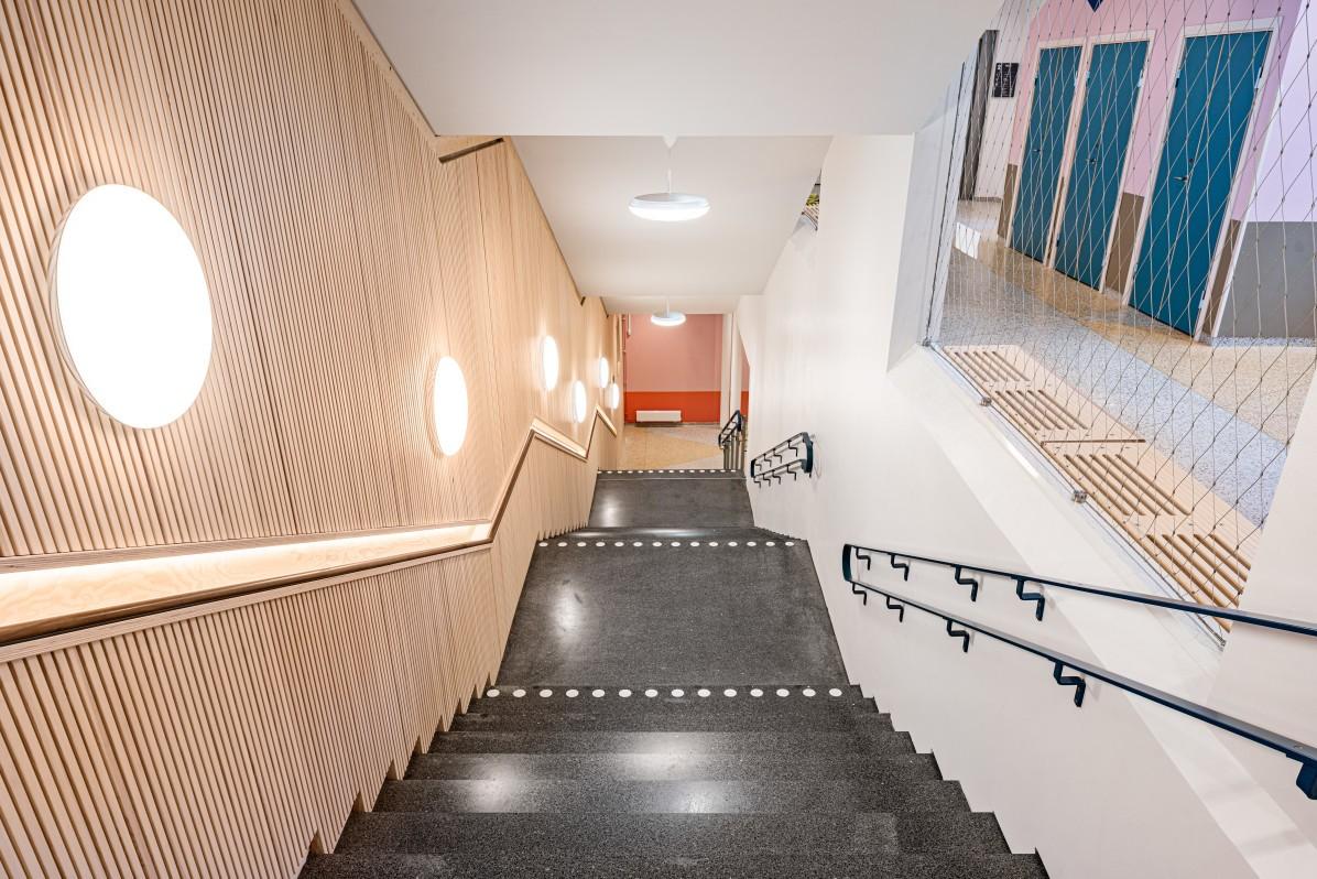Skolans trappa.