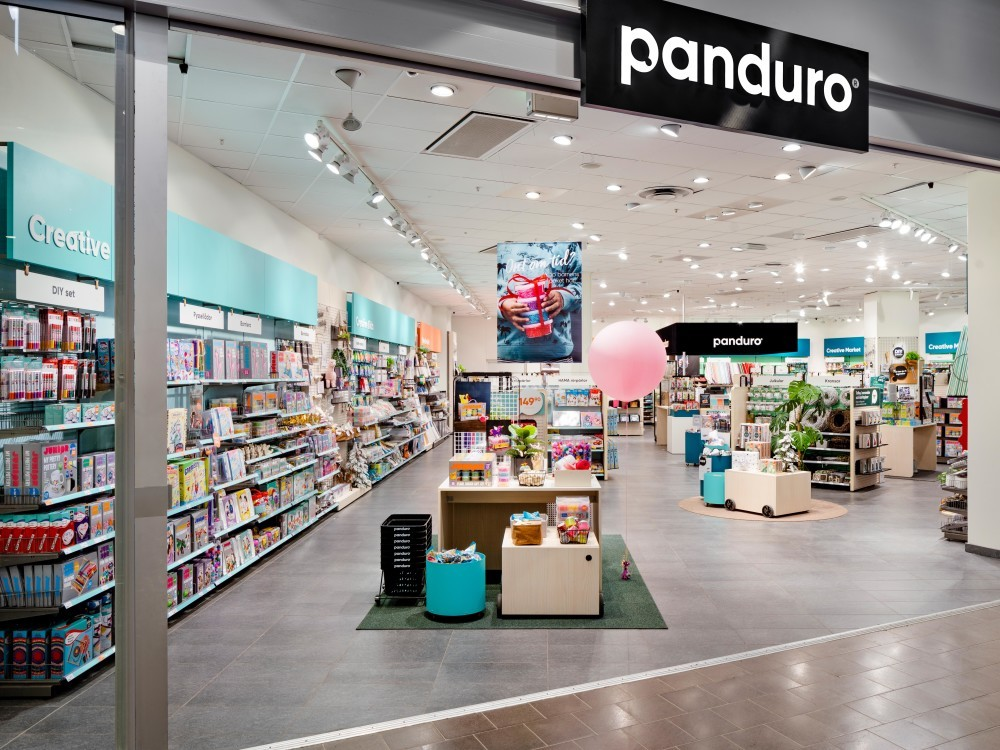 The Panduro store in Sickla Köpkvarter, photographed by interior photographer Mattias Hamrén.