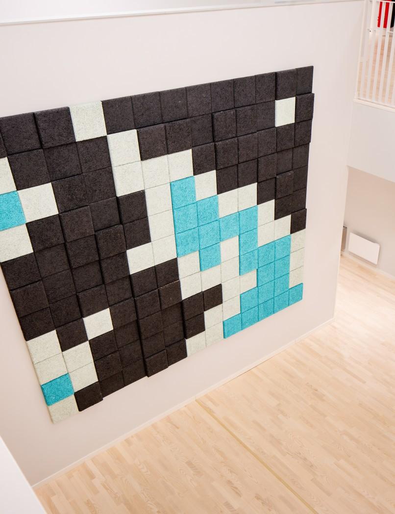 BAUX Acoustic 3D Pixel panels.