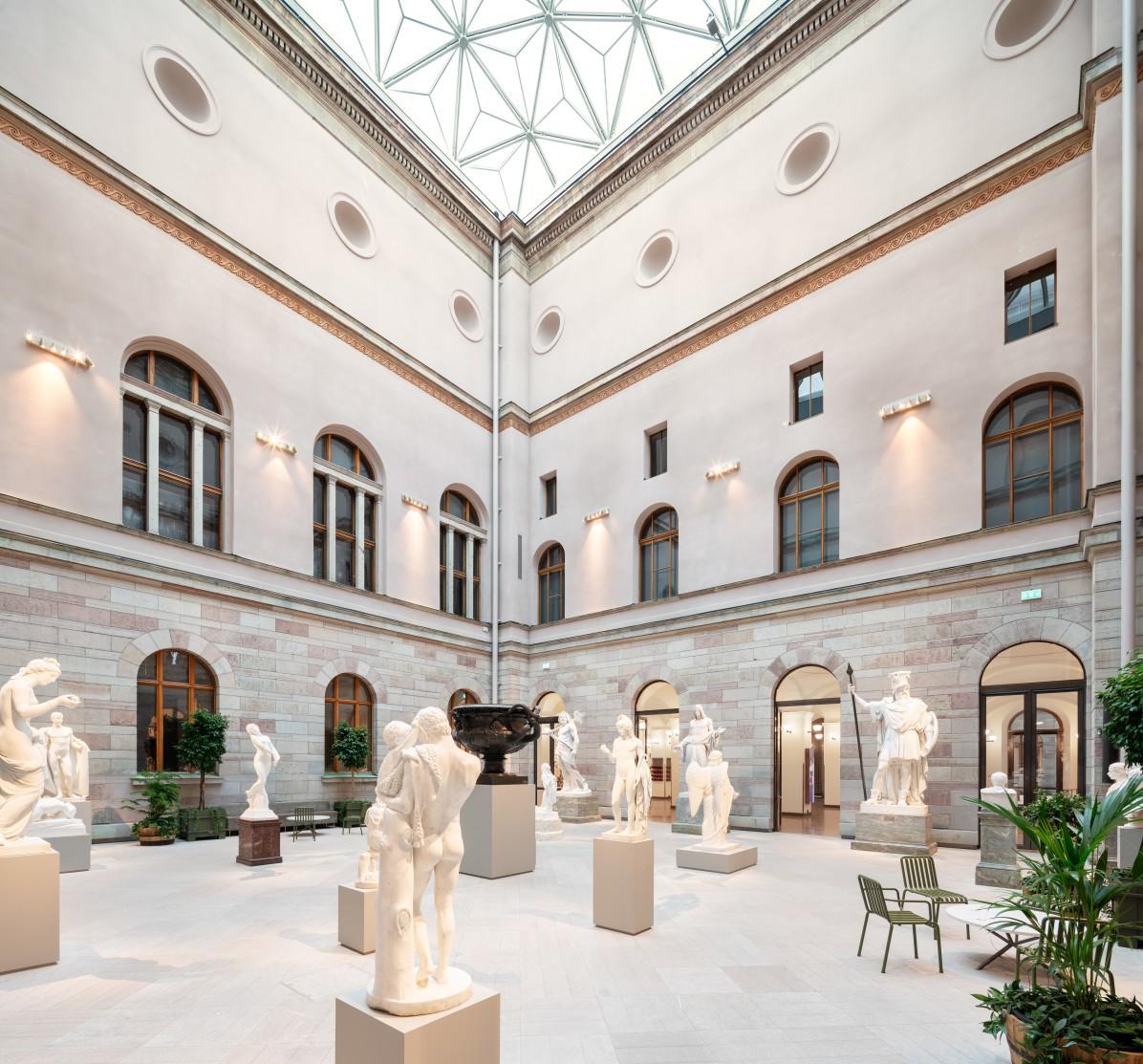 Skulpturgården på Nationalmuseum i Stockholm.