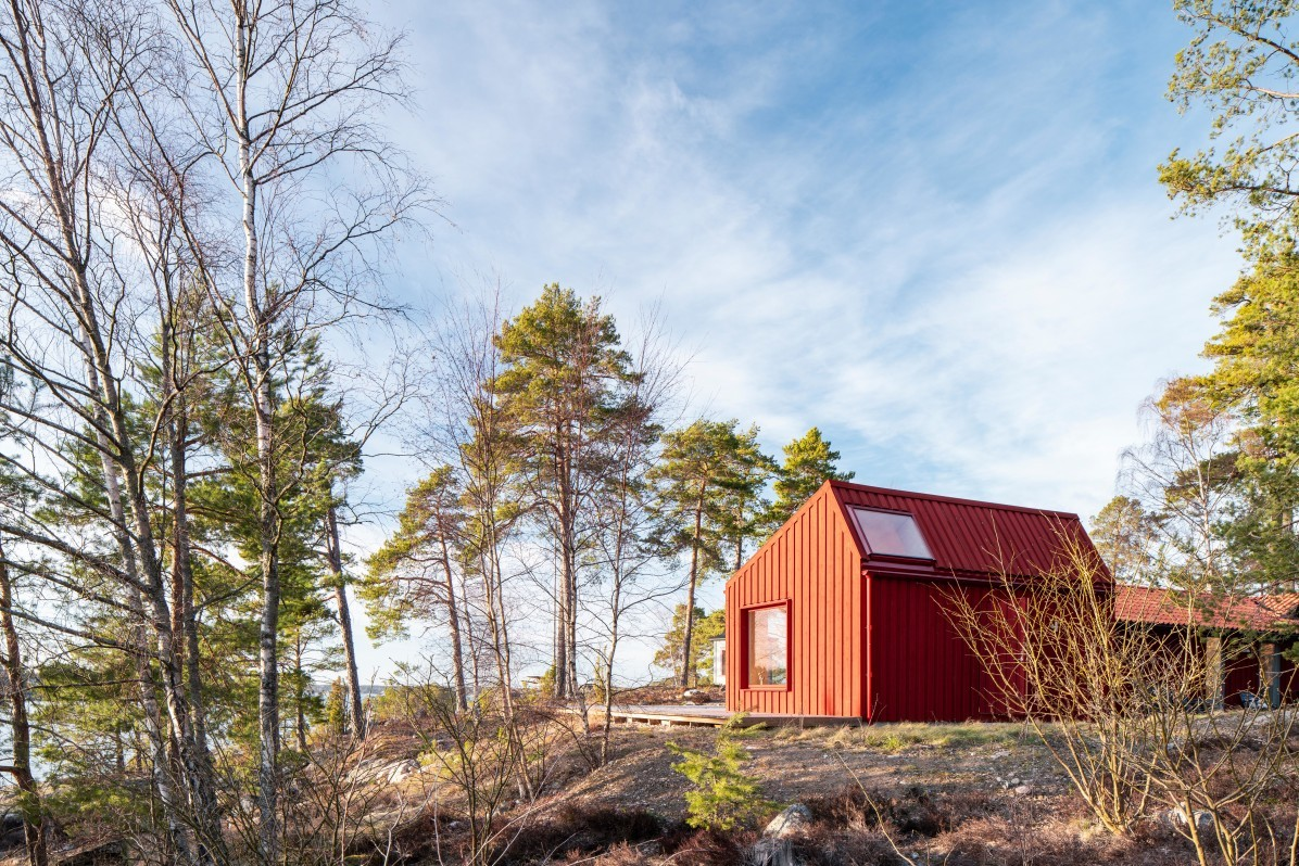 Monochrome House by Lookofsky Architecture, photographed by architectural photographer Mattias Hamrén