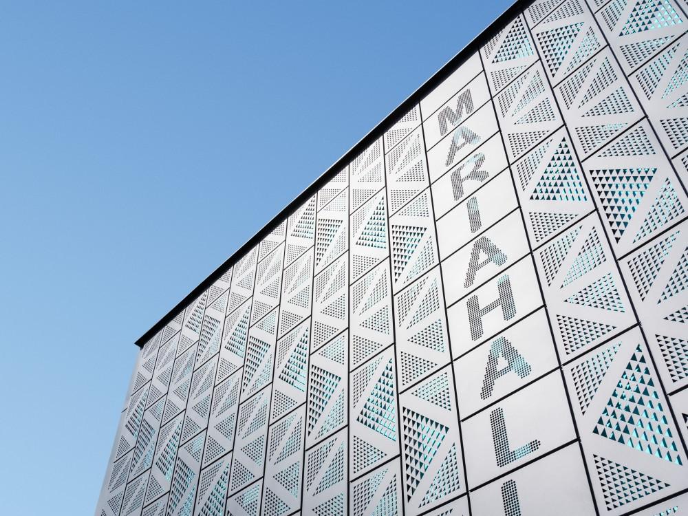 Mariahallen i Helsingborg, fotograferat av arkitekturfotograf Mattias Hamrén.