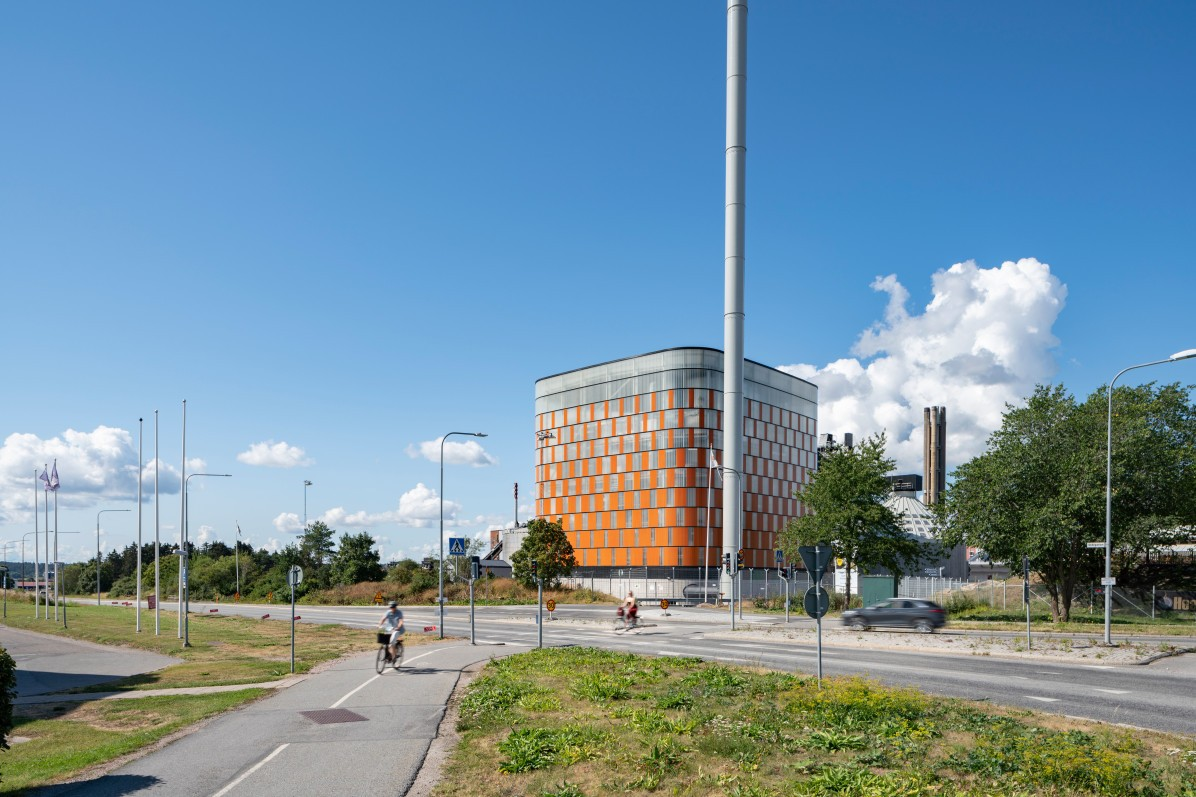 Vattenfall's new power plant in Uppsala, Carpe Futurum. By architectural firm Liljewall arkitekter.