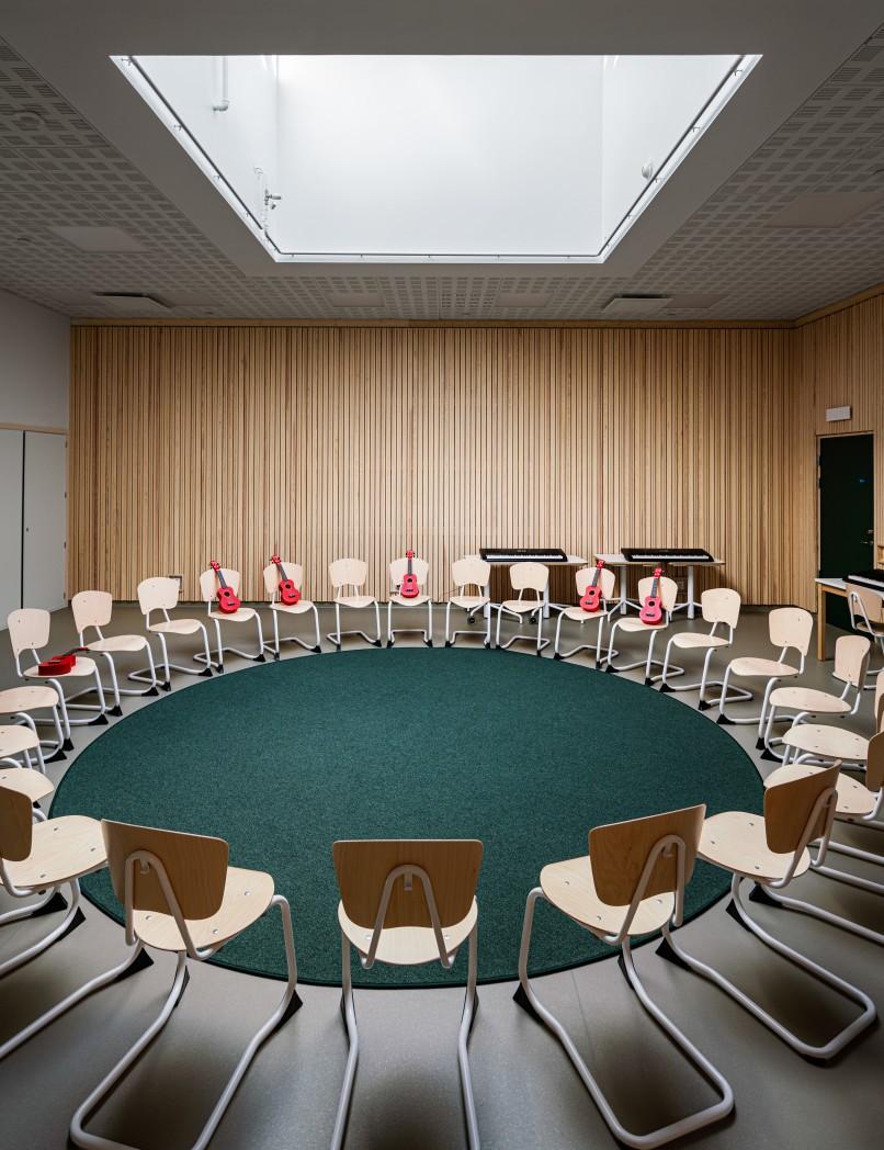 Musiksalen på Bobergsskolan.