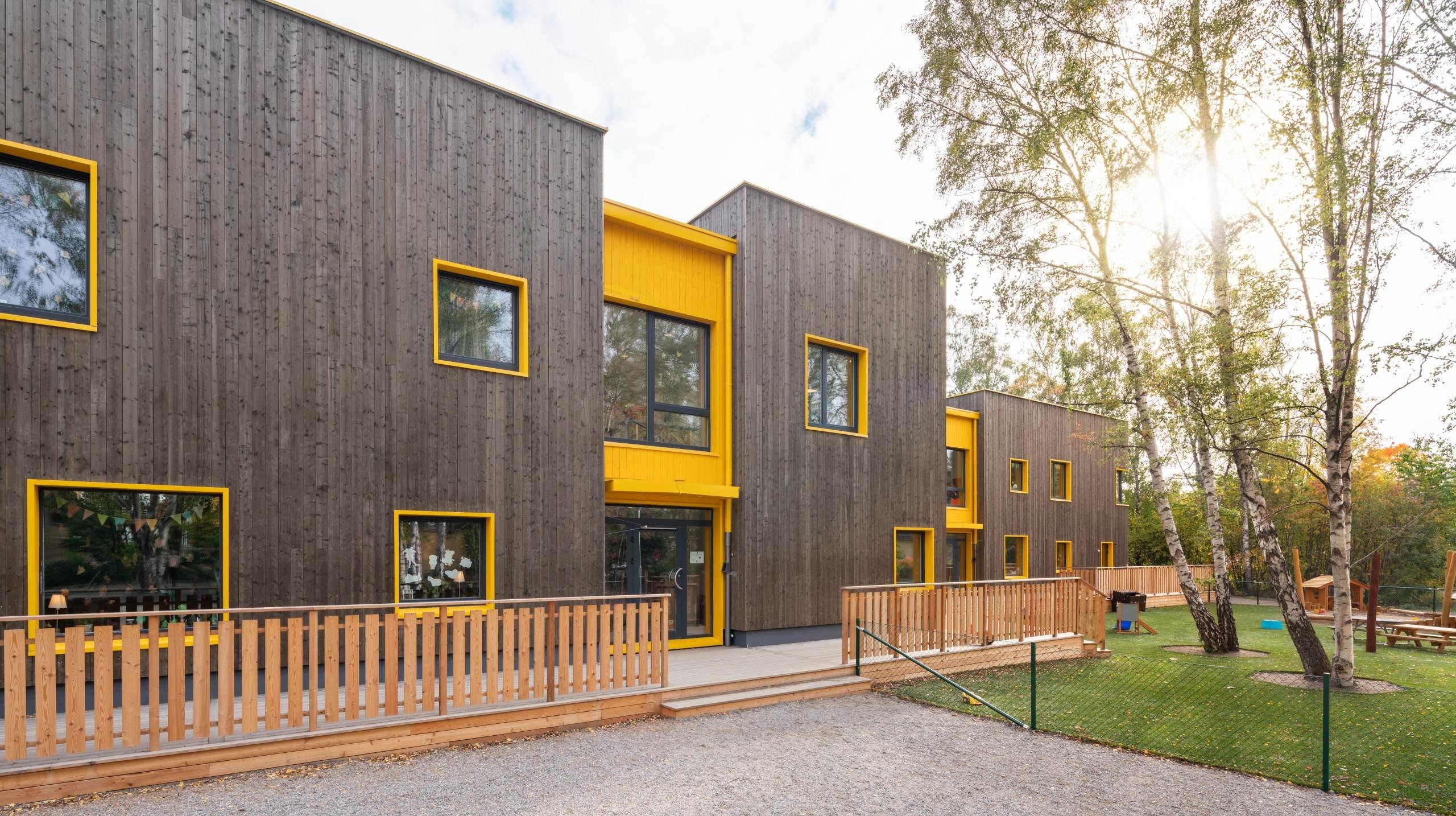 Förskolan Solängen, fotograferat av arkitekturfotograf Mattias Hamrén.