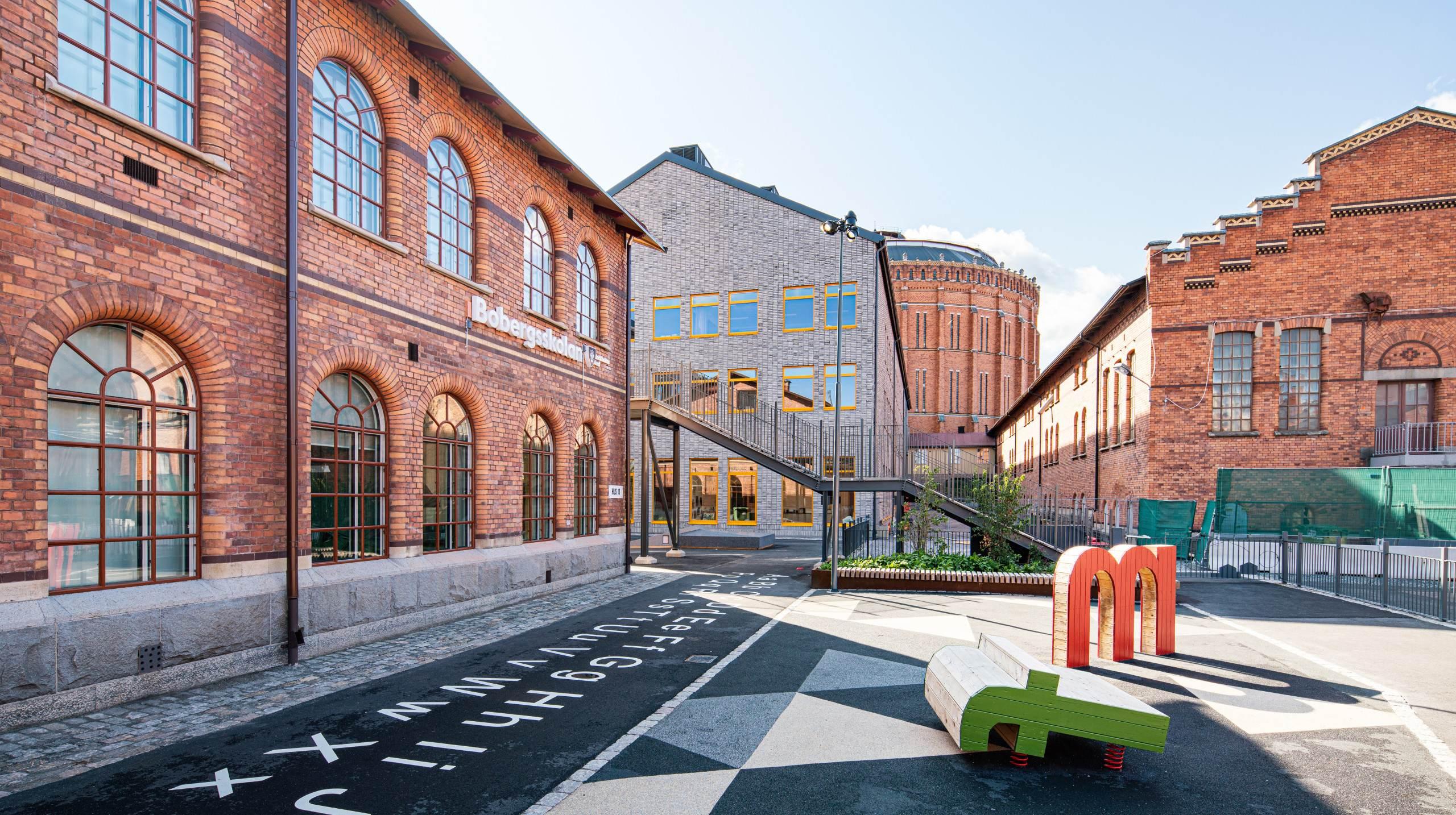 Bobergsskolan av Max Arkitekter, fotograferat av arkitekturfotograf Mattias Hamrén.
