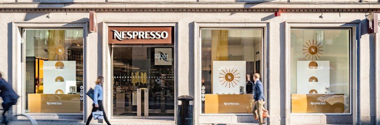 Nespresso Store på Kungsgatan i Stockholm, fotograferat av Mattias Hamrén.