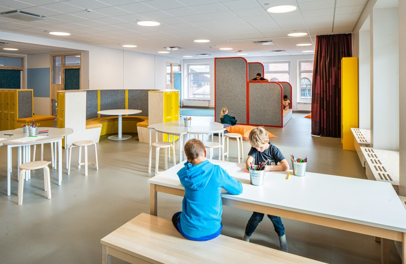 Classroom at Bobergsskolan.