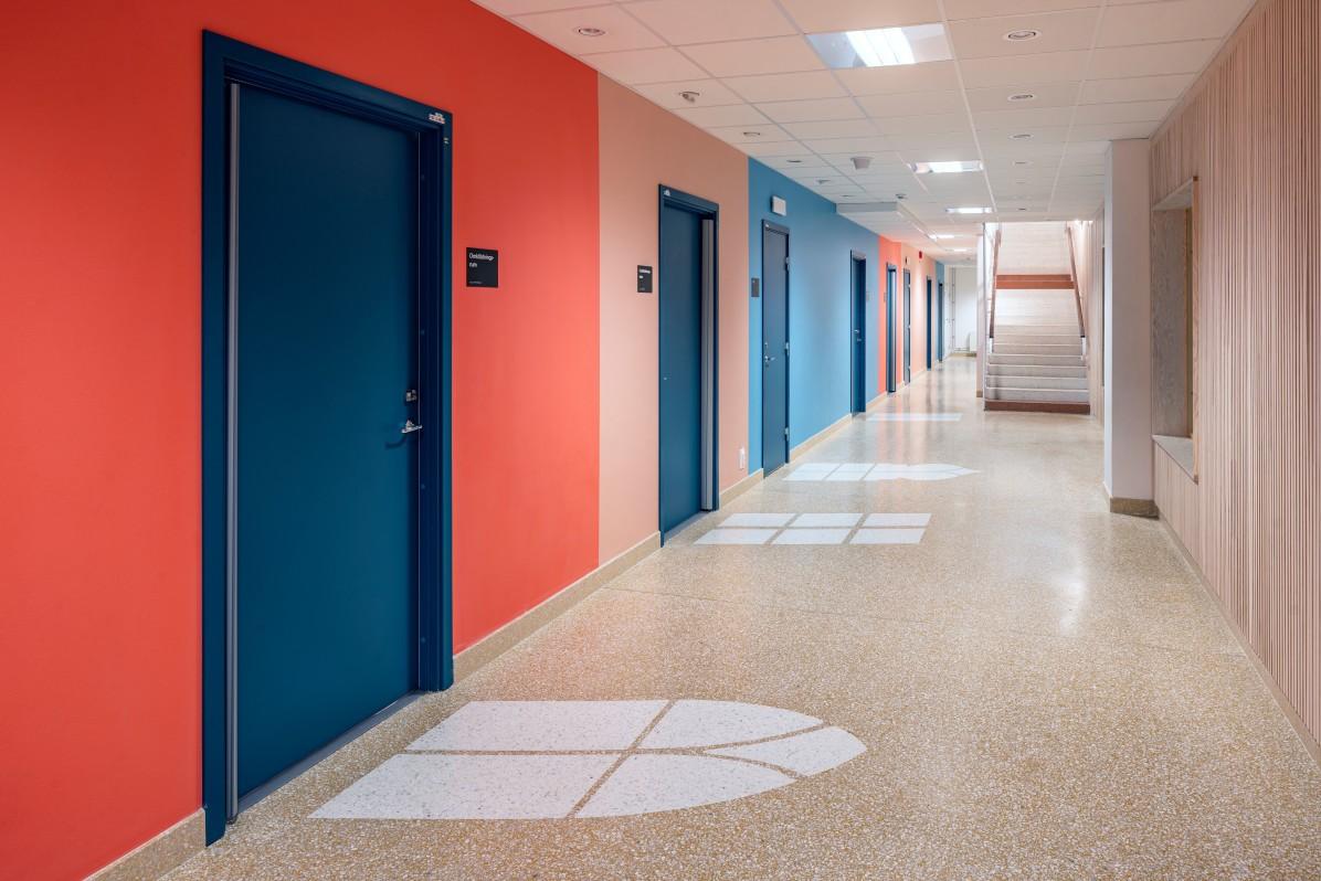 Sjöviksskolan i Årstadal av Max Arkitekter, fotograferad av arkitekturfotograf Mattias Hamrén.